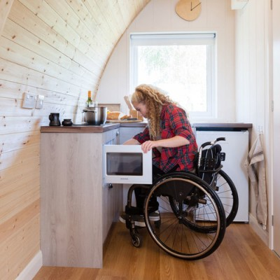 wheelchair friendly holiday cabin